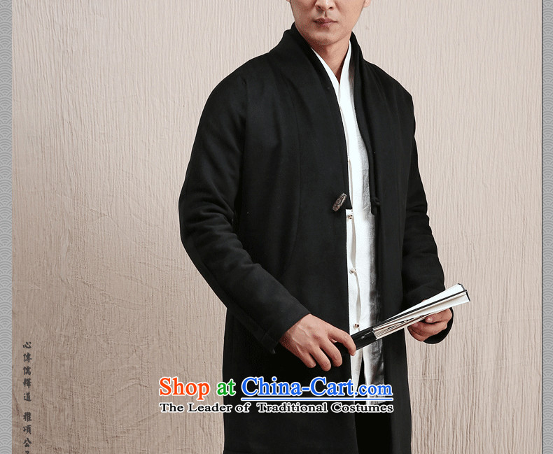 Cd 3 Model Han Royal China wind wool coat man long, but the Chinese Tang Dynasty Recreation coats of national services winter olive small picture (S), prices, brand platters! The elections are supplied in the national character of distribution, so action, buy now enjoy more preferential! As soon as possible.