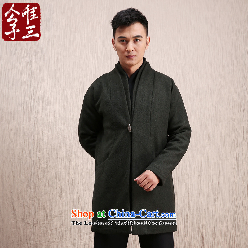 Cd 3 Model Han Royal China wind wool coat man long, but the Chinese Tang Dynasty Recreation coats of national services (S), small olive winter CD 3 , , , shopping on the Internet