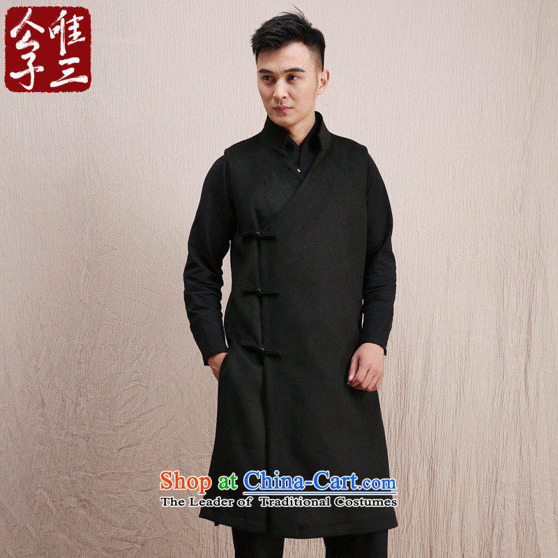 Cd 3 Model Hau Tak China wind Tang woolen?, a man of Chinese national improved stylish Sau San vest winter Black (M)
