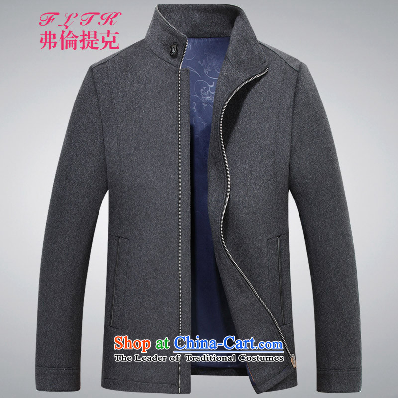 Francis Aaron, 2015 autumn and winter mentioned new gross is packaged version of the Coat?   wool a wool coat jacket men of gray short dark gray light gray?M