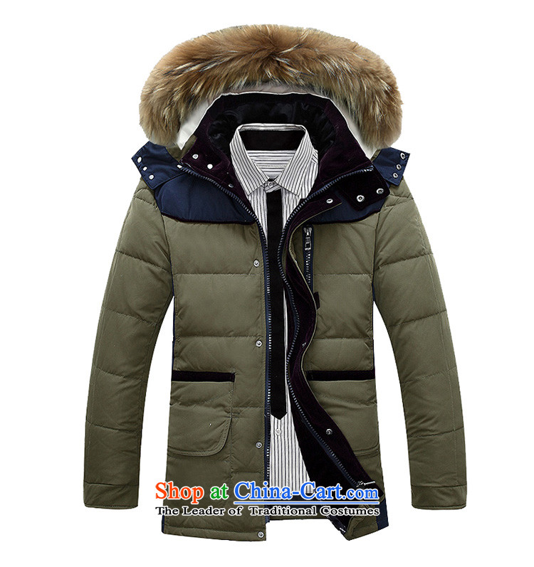 Jeep shield downcoat men fall and winter new Korean warm jacket Sau San NIAN JEEP youth Leisure Long, collar windproof cotton coat D1766 blue 4XL Photo, prices, brand platters! The elections are supplied in the national character of distribution, so action, buy now enjoy more preferential! As soon as possible.