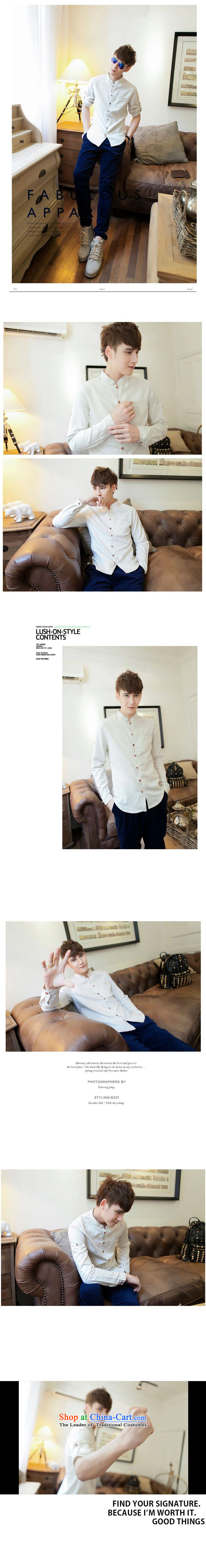 Card of the new sub-2015 men's youth China wind leisure and Tang dynasty male leisure long-sleeved shirt carbon聽170/88 picture, prices, brand platters! The elections are supplied in the national character of distribution, so action, buy now enjoy more preferential! As soon as possible.