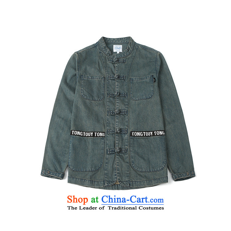 Card of the new sub-2015 men's pioneer dark China wind cowboy Tang dynasty ball-casual wear jackets to handle the old cowboy聽L picture, prices, brand platters! The elections are supplied in the national character of distribution, so action, buy now enjoy more preferential! As soon as possible.
