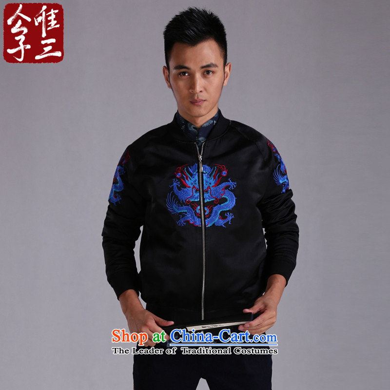 Cd 3 model ryuo shirt China wind leisure Tang Dynasty Chinese jacket baseball shirts and jacket national costumes autumn and winter Hyun triad _L_