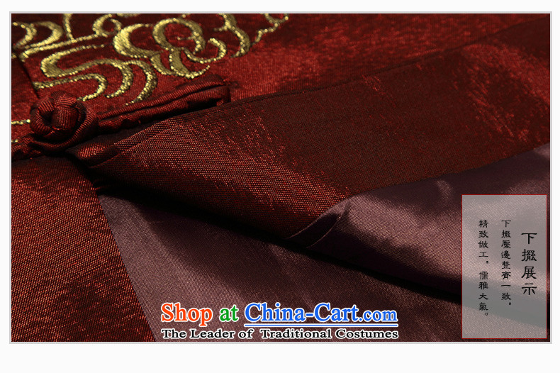 Ilelin2015 autumn and winter in two new older men Tang dynasty long-sleeved clothing middle-aged men's ball-chinese collar Han-grandfather XXXL red jacket picture, prices, brand platters! The elections are supplied in the national character of distribution, so action, buy now enjoy more preferential! As soon as possible.