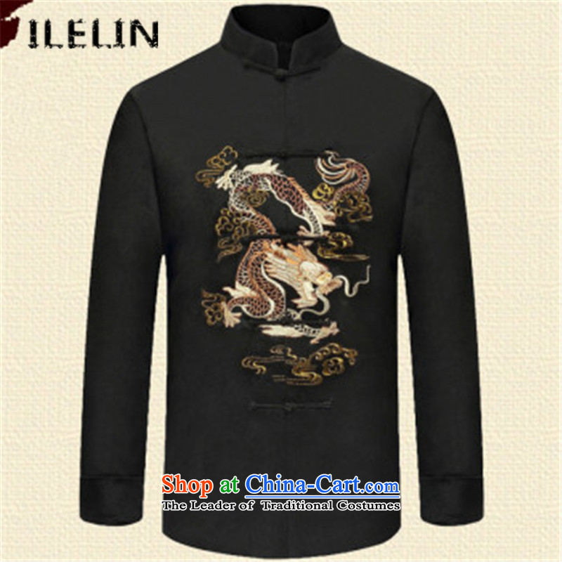 Ilelin2015 autumn and winter in two new older men Tang dynasty long-sleeved clothing middle-aged men's ball-chinese collar Han-grandfather XXXL,ILELIN,,, red jacket shopping on the Internet