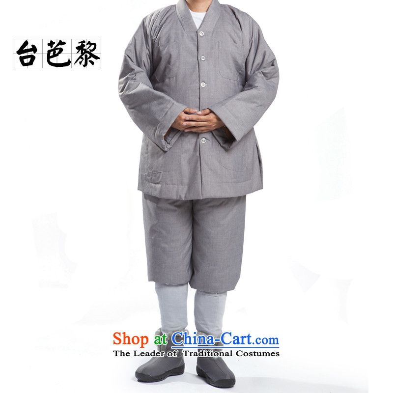 Desktop and Lai renunciates winter clothing A Taiwan winter monks robe short use warm small use cotton?35_181cm-184cm_ Gray