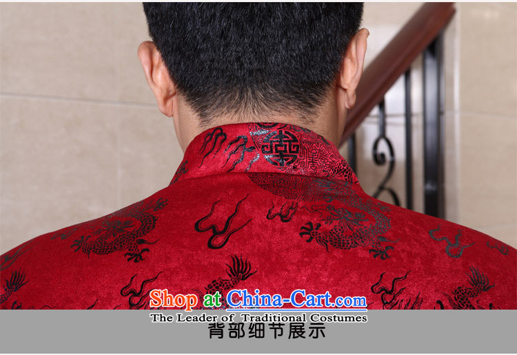 Dad auspicious festive banquets Tang dynasty light jacket coat of older men of autumn and winter robe birthday gift with dark red聽190( grandpa recommendations 175-190 catty through pictures, prices,) Brand platters! The elections are supplied in the national character of distribution, so action, buy now enjoy more preferential! As soon as possible.