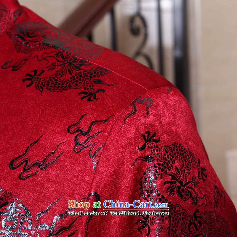 Dad auspicious festive banquets Tang dynasty light jacket coat of older men of autumn and winter robe birthday gift with dark red聽190( Grandpa 175-190), through the burden of recommendations dad auspicious shopping on the Internet has been pressed.