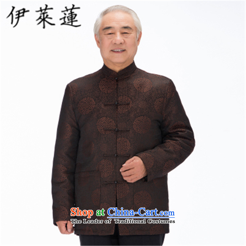 Hirlet Ephraim 2015 autumn and winter new elderly father mother golden marriage birthday birthday Tang dynasty grandparents to couples stamp leisure ãþòâ jacket, dark red 5XL, Girl, Lin (ILELIN) , , , shopping on the Internet