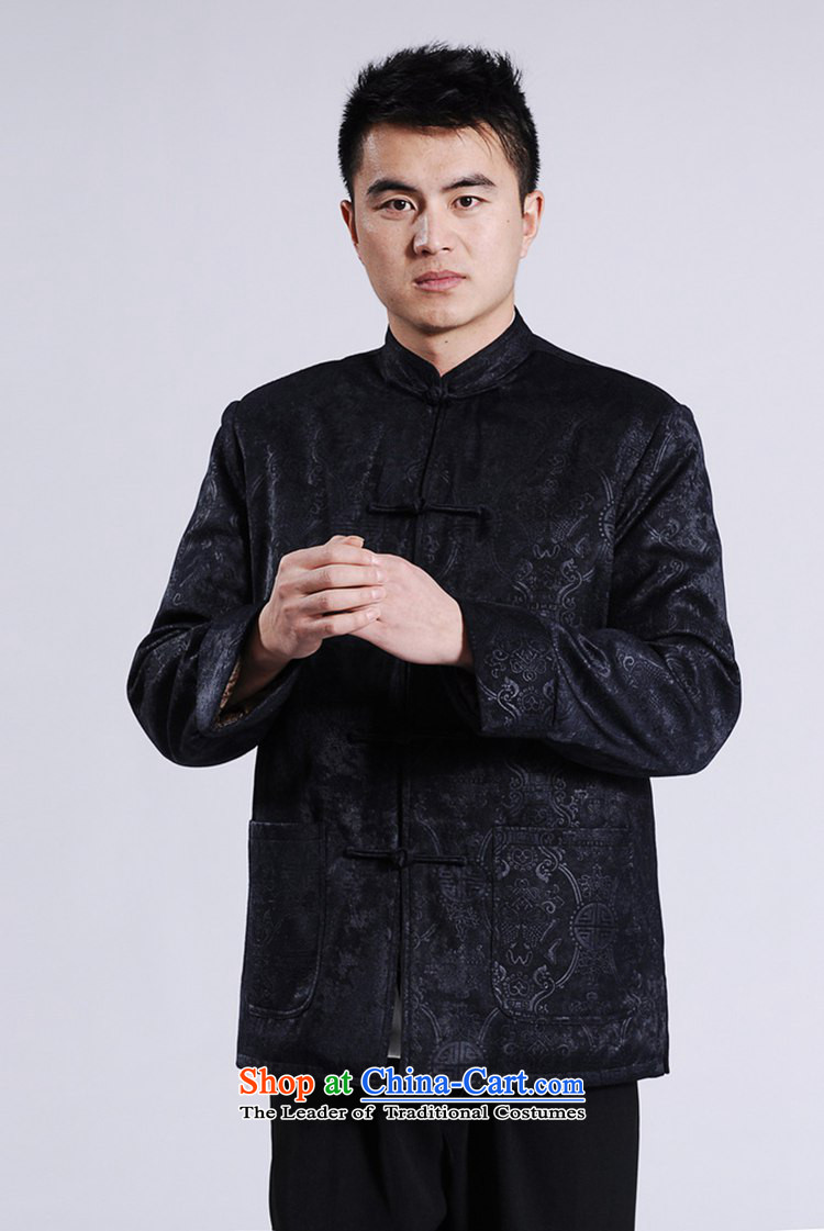 In accordance with the fuser retro ethnic Chinese men and Tang dynasty robe jacket collar suit single row detained father replacing Tang dynasty ãþòâ life will have a dark blue 3XL /M0046 ancient pictures, prices, brand platters! The elections are supplied in the national character of distribution, so action, buy now enjoy more preferential! As soon as possible.