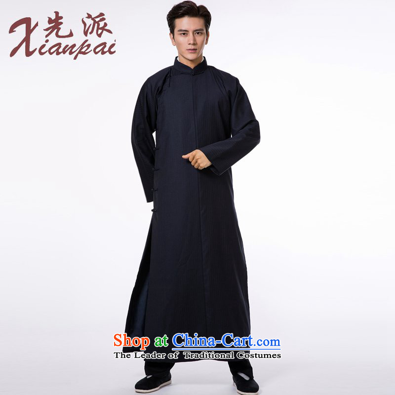 The dispatch of autumn and winter, as the distinguished and Cheongsams crosstalk? wool-style robes traditional even shoulder robe tray clip new pre-sale Tibetan blue bar robe 3XL   new pre-sale three days to send out