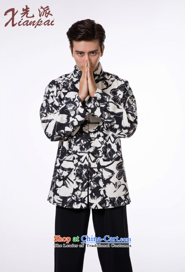 The dispatch of Tang Dynasty Male Silk linen dresses high end traditional feel China wind collar tray clip jacket for the pre-sale of the new Flower silk garment ma聽4XL 聽new pre-sale three days to send out a picture, prices, brand platters! The elections are supplied in the national character of distribution, so action, buy now enjoy more preferential! As soon as possible.