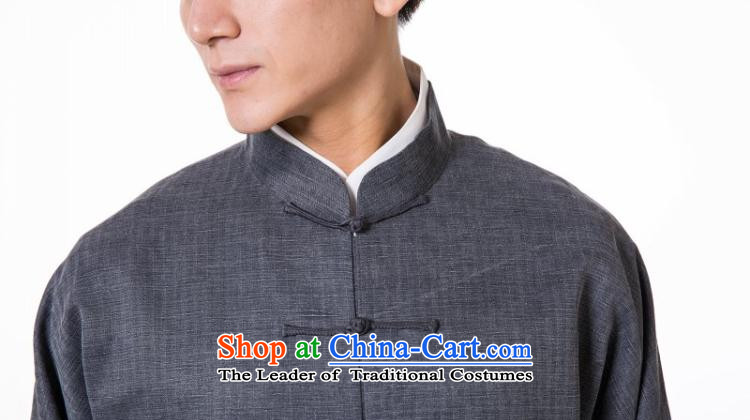 The dispatch of Tang Dynasty Long-sleeve silk linen dresses high end traditional feel China Wind Jacket new pre-sale gray silk garment Ma Tei聽XL  聽new pre-sale three days to send out a picture, prices, brand platters! The elections are supplied in the national character of distribution, so action, buy now enjoy more preferential! As soon as possible.