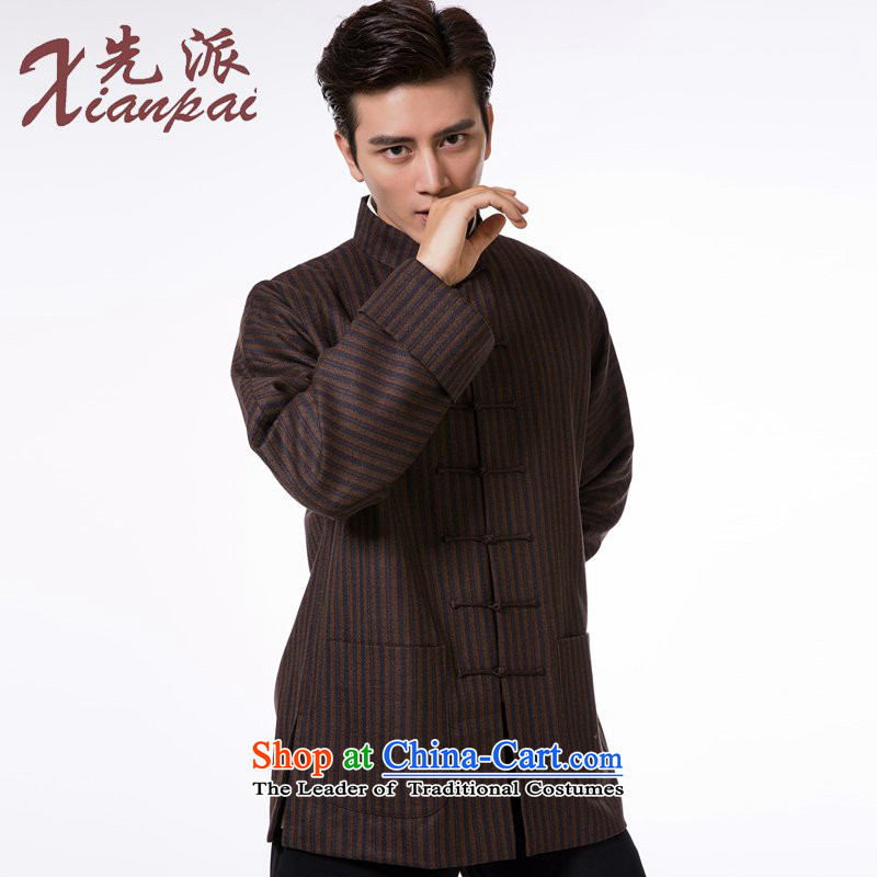 The dispatch of pre-sale Tang Dynasty Men long-sleeved jacket wool Stylish spring and autumn China wind even traditional shoulder mock coffee-colored bars wool garment聽M  聽new pre-sale of three days, to send outgoing xianpai () , , , shopping on the Inter