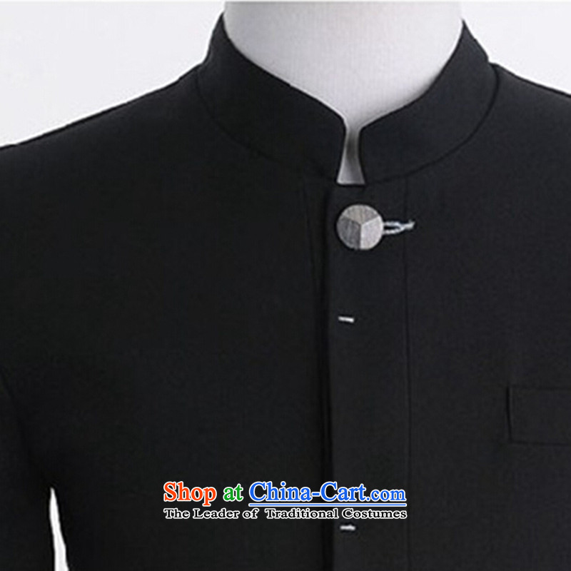 聽Spring 2015 happy times of men new Korean leisure suit coats collar male Chinese tunic suit small Sau San men 1803 Black聽XXL, happy times (happytime) , , , shopping on the Internet