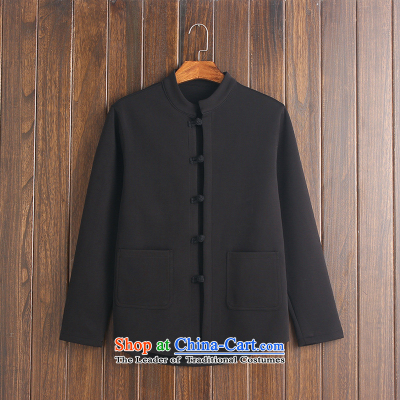 Card of the new 2015 sub-China wind retro Sau San 4 tray clip classical Korean small wind jacket Sau San Black?XL