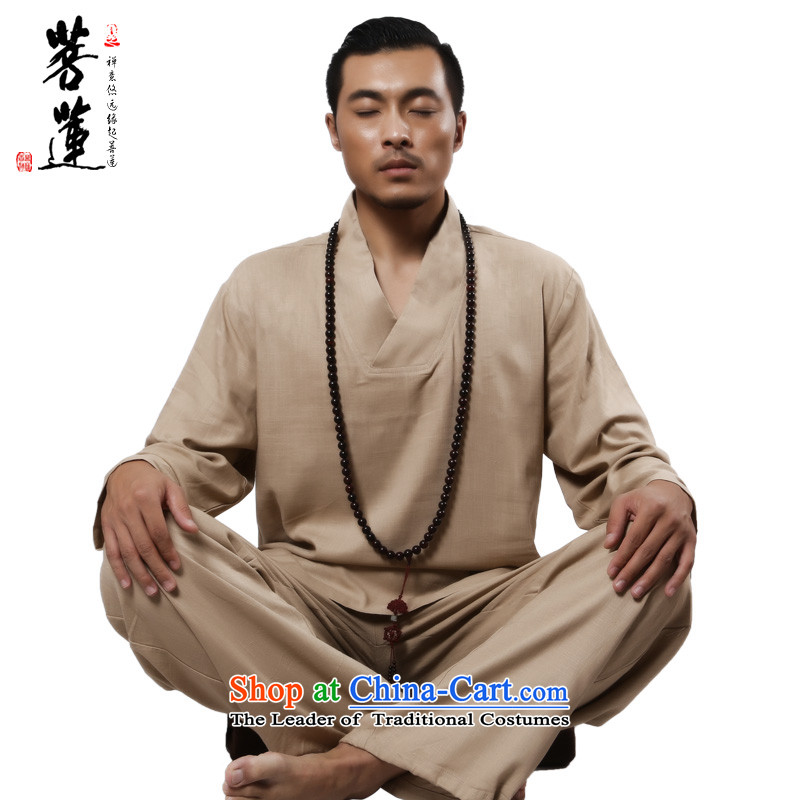 On cotton linen flax Lin Men and women of the spring and autumn meditation ball services yoga Services service to meditate Taeguk Fitness Services Package-?L