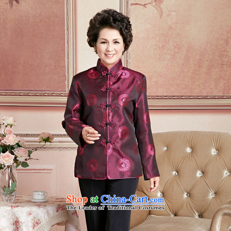158 Jing Chu replacing older persons in the Tang dynasty couples men long-sleeved birthday too Shou Chinese Dress elderly woman's robe�M