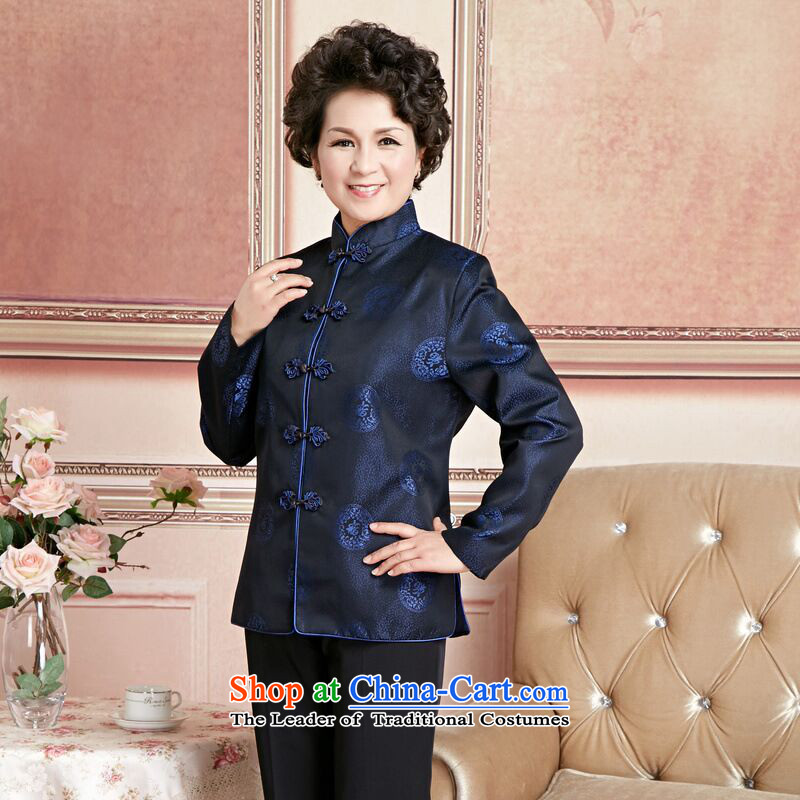 158 Jing Chu replacing older persons in the Tang dynasty couples men long-sleeved birthday too Shou Chinese Dress elderly woman's robe XXL