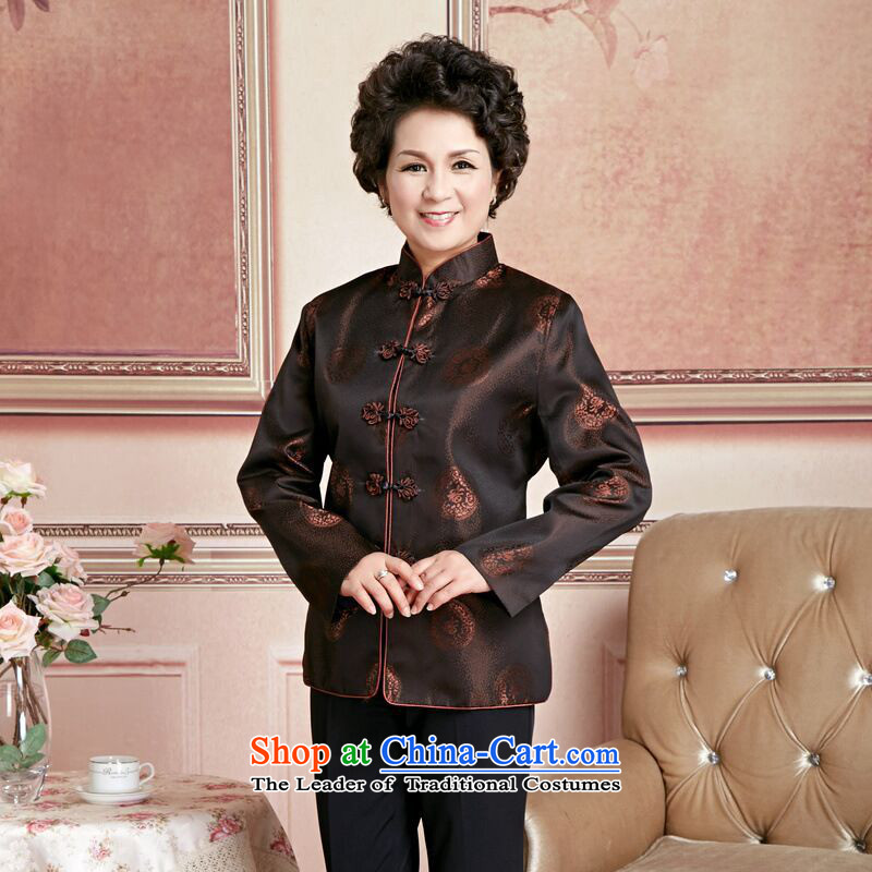 158 Jing Chu replacing older persons in the Tang dynasty couples men long-sleeved birthday too Shou Chinese Dress elderly woman's robe, L 158 jing shopping on the Internet has been pressed.