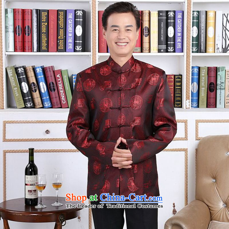 158 Jing in Tang Dynasty older couples with collar China wind dress too Shou Yi wedding services will men?XXL