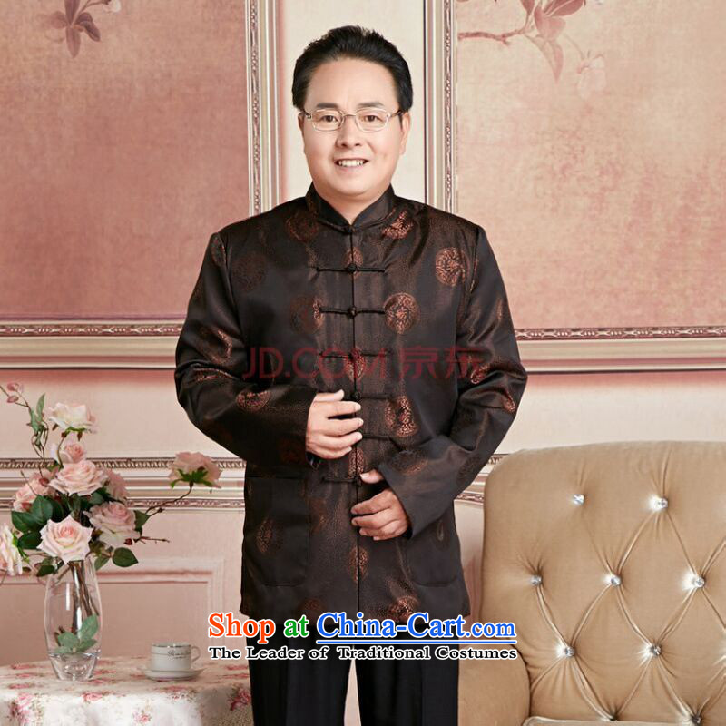 Ms Au King Mansion to Fall/Winter Collections of older persons in the Tang dynasty couples men long-sleeved birthday too Shou Chinese Dress elderly will men?XL