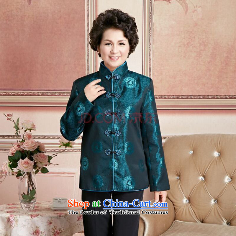 Ms Au King Mansion to Fall/Winter Collections of older persons in the Tang dynasty couples men long-sleeved birthday too Shou Chinese Dress elderly will women XXL