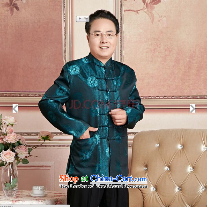 Ms Au King Mansion to Fall/Winter Collections of older persons in the Tang dynasty couples men long-sleeved birthday too Shou Chinese Dress elderly woman's will聽to Jing Ge.... XXL, shopping on the Internet