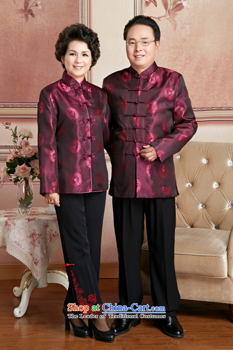 Ms Au King Mansion to Fall/Winter Collections of older persons in the Tang dynasty couples men long-sleeved birthday too Shou Chinese Dress elderly will womenXXXL picture, prices, brand platters! The elections are supplied in the national character of distribution, so action, buy now enjoy more preferential! As soon as possible.