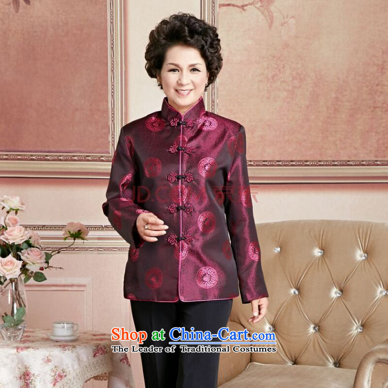 Ms Au King Mansion to Fall/Winter Collections of older persons in the Tang dynasty couples men long-sleeved birthday too Shou Chinese Dress elderly will women XXXL