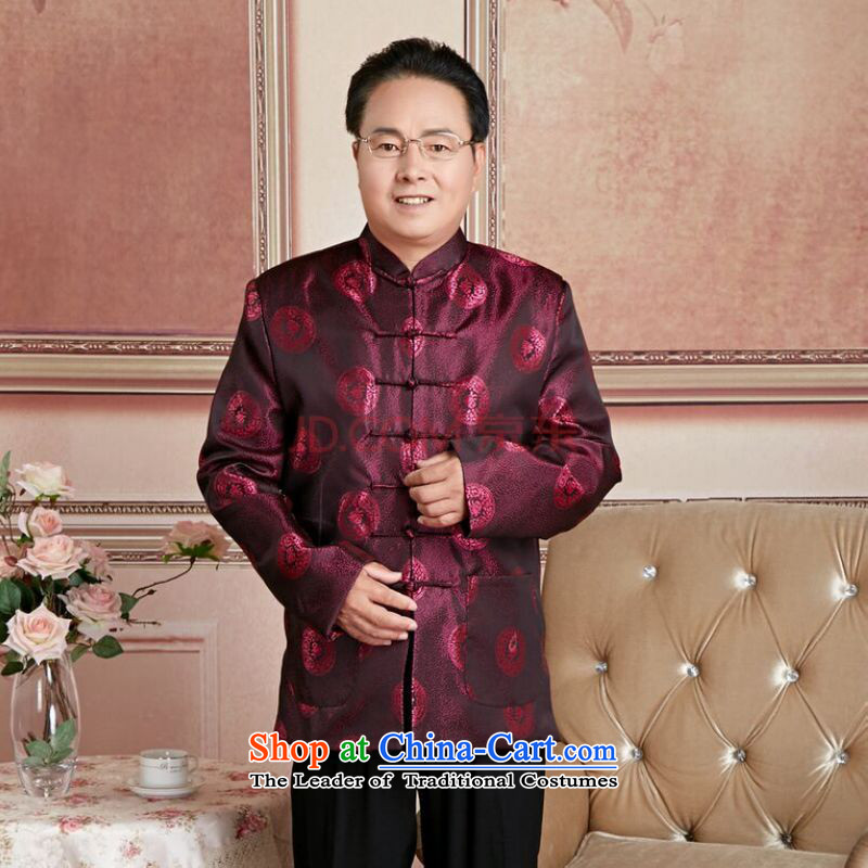 Ms Au King Mansion to Fall/Winter Collections of older persons in the Tang dynasty couples men long-sleeved birthday too Shou Chinese Dress elderly woman's willto Jing Ge.... XXXL, shopping on the Internet