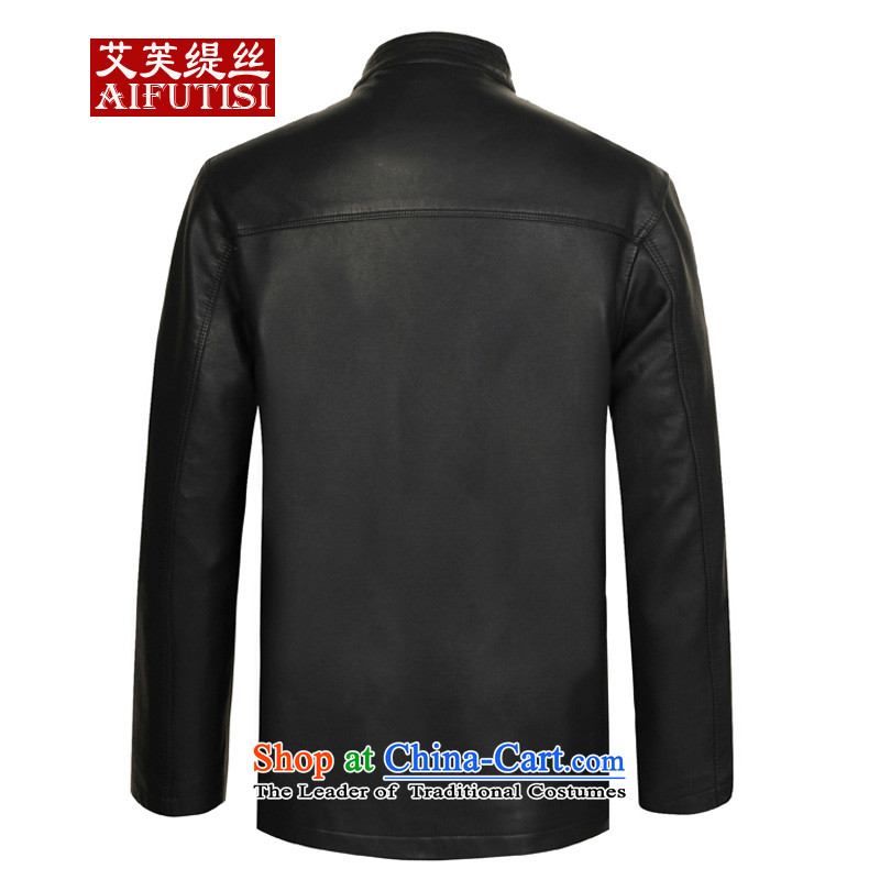 Hiv to economy聽in autumn and winter 2015 population of older men in Tang Dynasty long version of Korea Neck Jacket black leather garments聽to economy, 175, HIV shopping on the Internet has been pressed.
