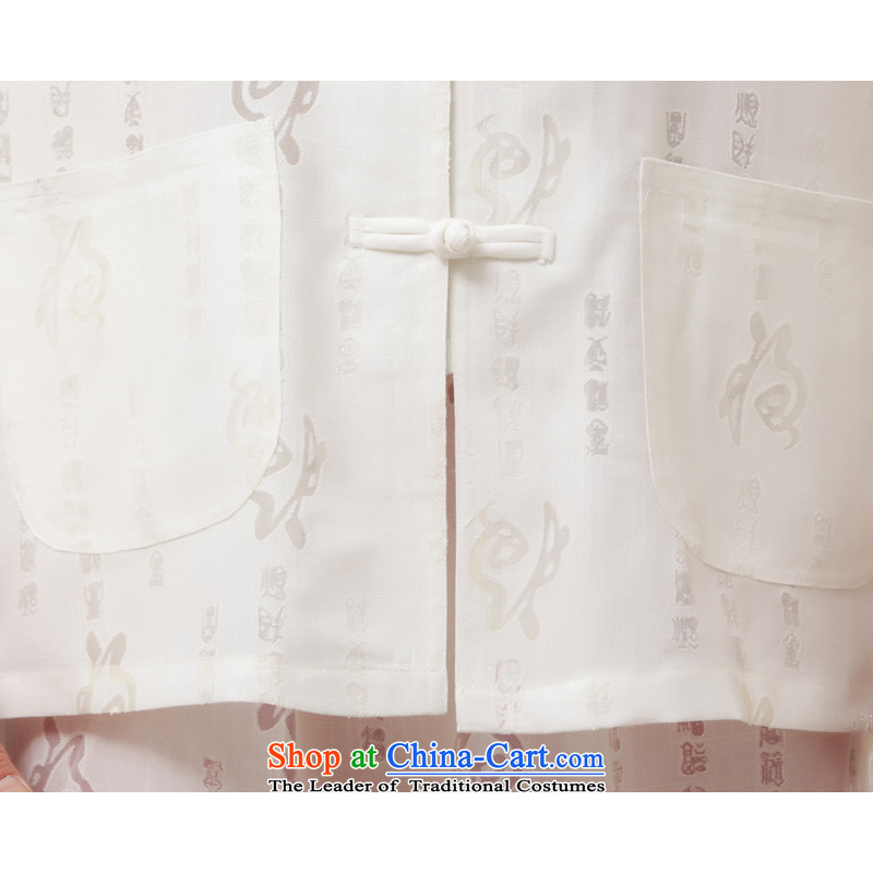 Charlene Choi this cabinet reshuffle is older men's national costumes to loose cotton linen collar kit tray clip Tang dynasty kung fu with jogging services - Field Kit white long-sleeved聽4XL, Charlene Choi this court shopping on the Internet has been pres