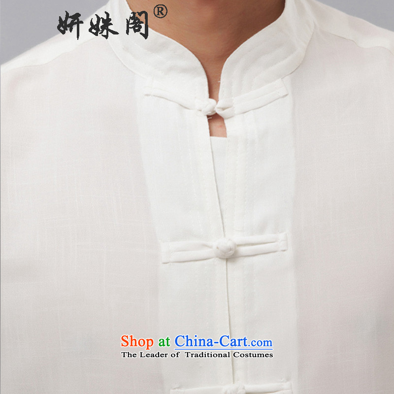 Charlene Choi this cabinet reshuffle is older men fall with tang blouses national costumes collar disc detained leisure exercise clothing聽- Long-Sleeve white long-sleeved聽L, Charlene Choi this court shopping on the Internet has been pressed.