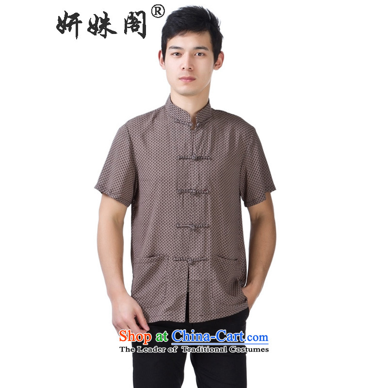 Charlene Choi this cabinet reshuffle is older men's shirts Tang dynasty collar short-sleeved T-shirt dad relaxd fit the traditional national dress - Silk speck of Lady�2XL