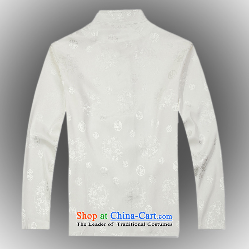 Spring 2015 new products from Vigers Po China wind long-sleeved Tang dynasty silk shirt聽T-shirts men stylish shirt White聽XL, Tang service federal core Chai Lang , , , shopping on the Internet