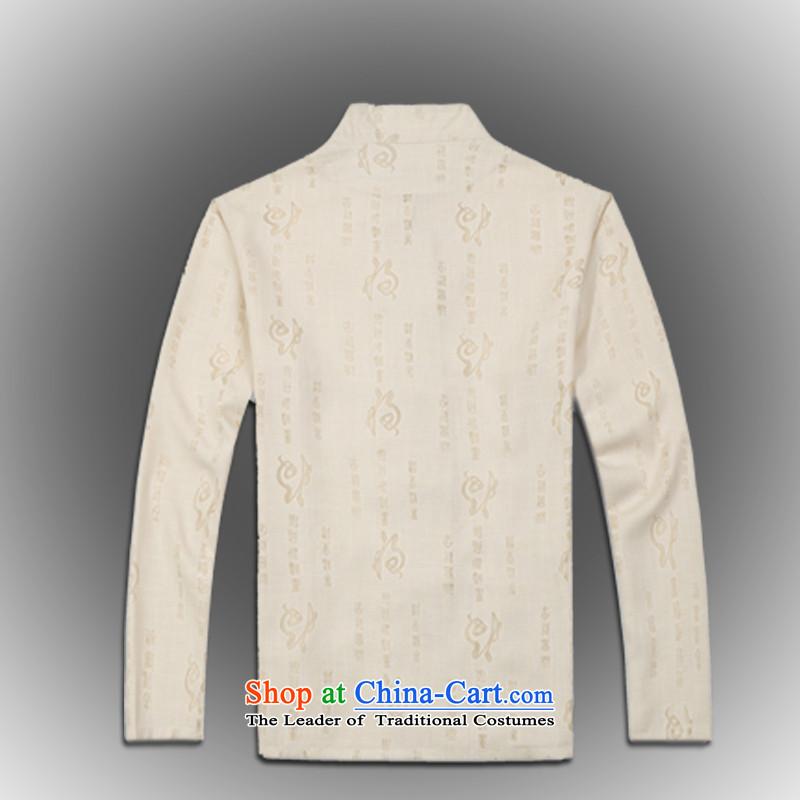 Whig Po聽Spring 2015 new products China wind long-sleeved shirt men Tang dynasty聽T-shirt linen stylish shirt B-0114 Tang services beige聽M ofa fruit , , , shopping on the Internet