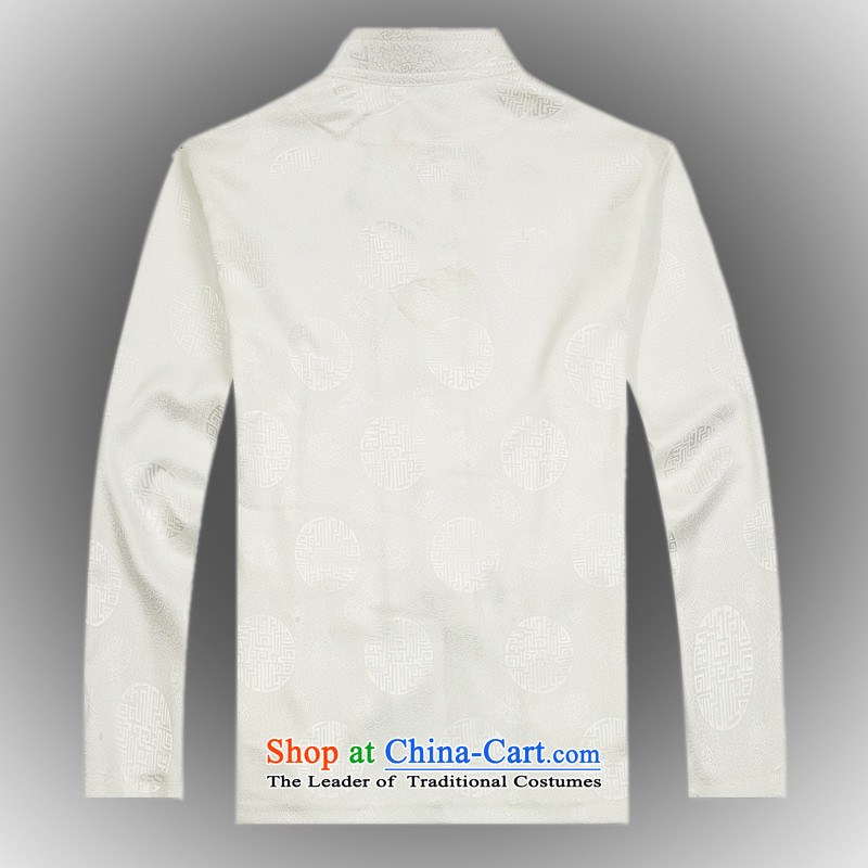 Hot聽Spring 2015 new products from Vigers Po China wind long-sleeved Tang dynasty silk shirt聽T-shirts men stylish shirt White聽XL, Tang Services ofa fruit , , , shopping on the Internet