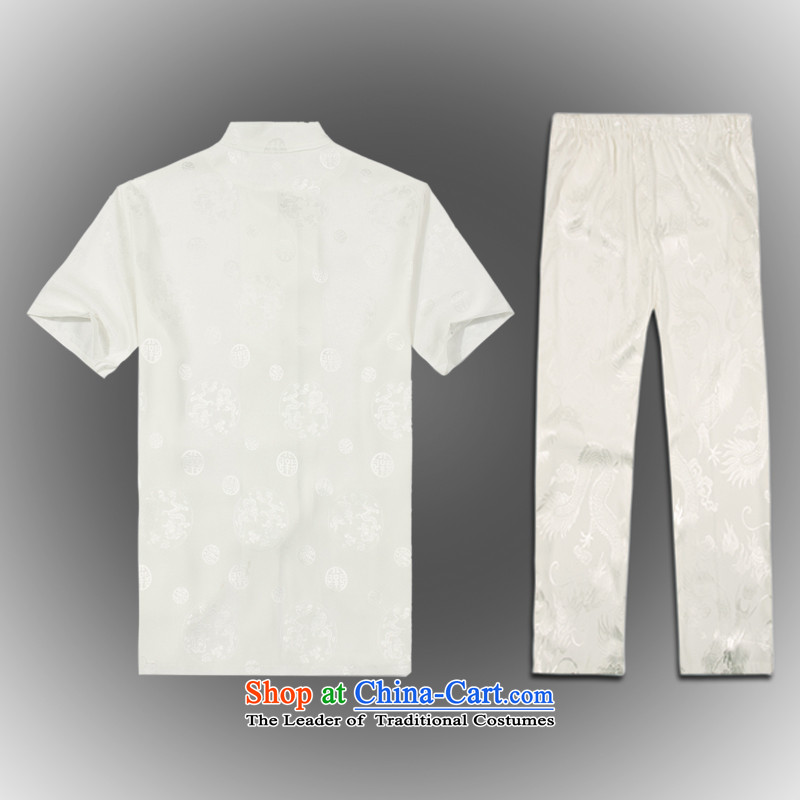 Whig Po 2015 spring/summer load new products in Tang dynasty China wind older kit men stylish white Pants Shirts service Tang聽XL(52), ofa fruit , , , shopping on the Internet
