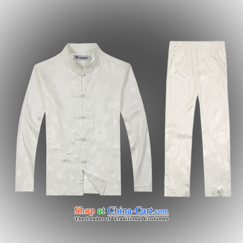 Spring 2015 new products from Vigers Po China wind long-sleeved shirt men Tang dynasty聽T-shirt kit shirt B-0111a Tang services silk white聽XL(52), federal core Chai Lang , , , shopping on the Internet