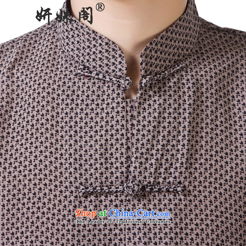 Charlene Choi this cabinet reshuffle is older men's shirts Tang dynasty collar short-sleeved T-shirt dad relaxd fit national dress - SILK SPECK 4XL, Charlene Choi this Court Lady , , , shopping on the Internet
