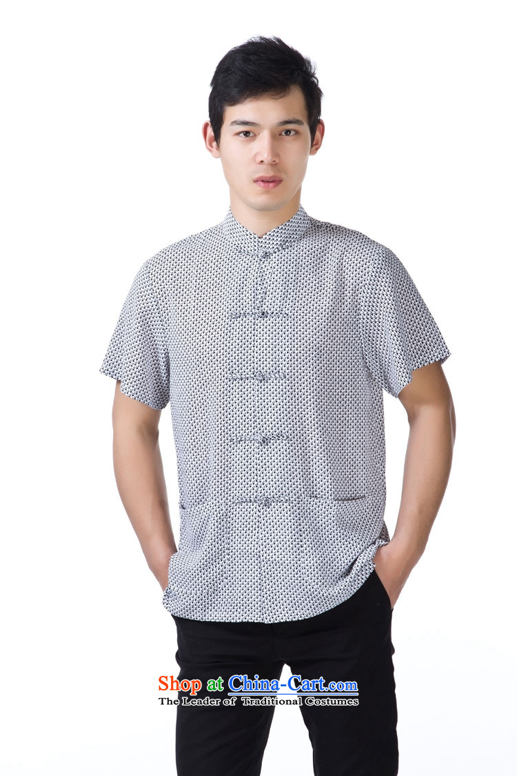 Charlene Choi this cabinet reshuffle is older men's shirts Tang dynasty collar short-sleeved T-shirt dad relaxd fit national dress - Silk speck of Lady 4XL Photo, prices, brand platters! The elections are supplied in the national character of distribution, so action, buy now enjoy more preferential! As soon as possible.