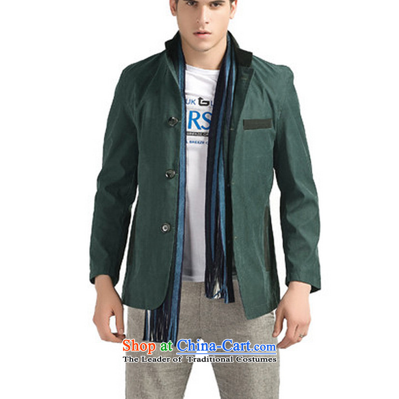 The Wei and Jin equals 2015 Autumn replacing New Men Tang Tang dynasty jacket suit coats of China Wind Jacket coat 6611 Peacock Blue M, the Wei and Jin-mannered , , , shopping on the Internet