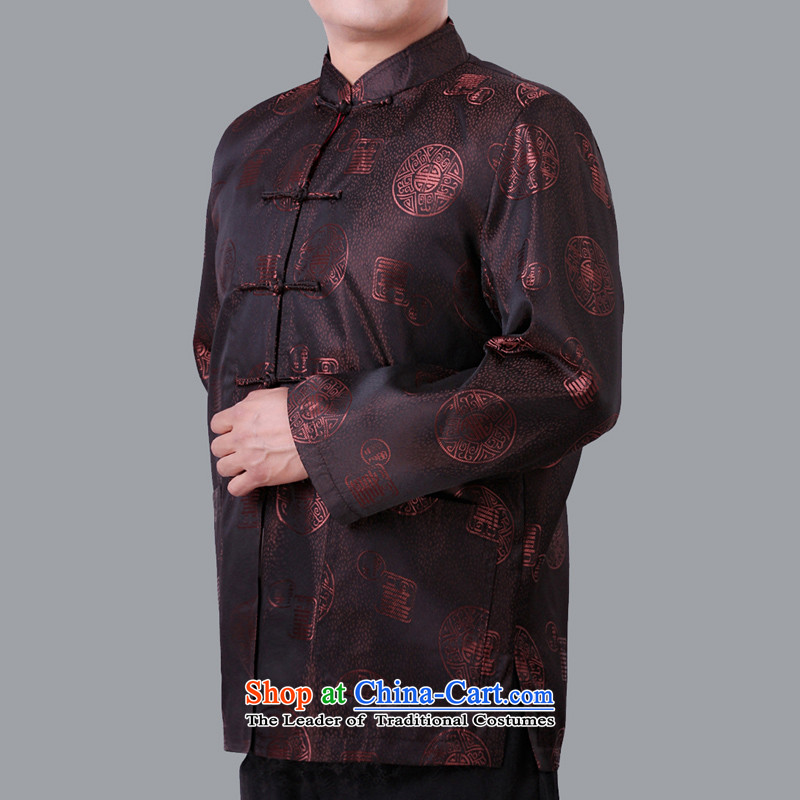 The autumn and winter special offer older thin cotton Tang dynasty men of ethnic older persons relaxd casual jackets 1335 folder Tang cotton winter of coffee聽180