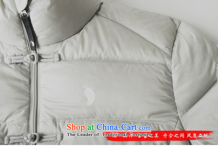 Nt 2.7 no polarity Tang Road down China wind Men's Mock-Neck Leisure Taegeuk stamp light duvet Tang dynasty low down jacket winter thick Chinese national costumes 86-0518silver grayXL Photo, prices, brand platters! The elections are supplied in the national character of distribution, so action, buy now enjoy more preferential! As soon as possible.
