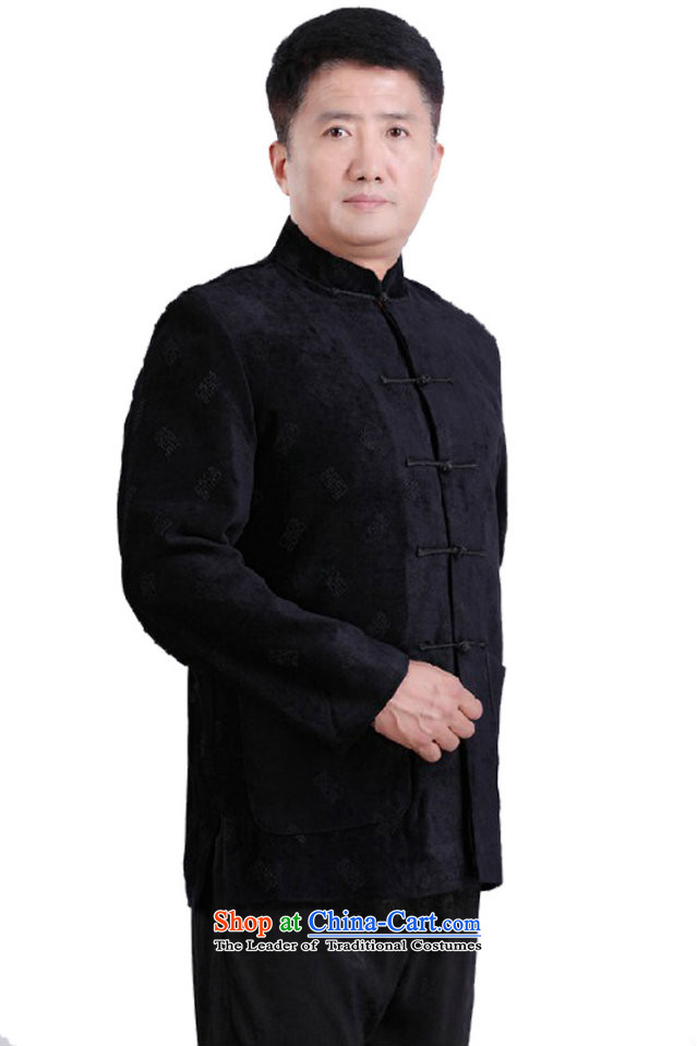 This new cabinet yeon middle-aged men Fall/Winter Collections Tang dynasty China National Mock-Neck Shirt leisure holiday services retro fitted --0979 dress father 3XL black picture, prices, brand platters! The elections are supplied in the national character of distribution, so action, buy now enjoy more preferential! As soon as possible.