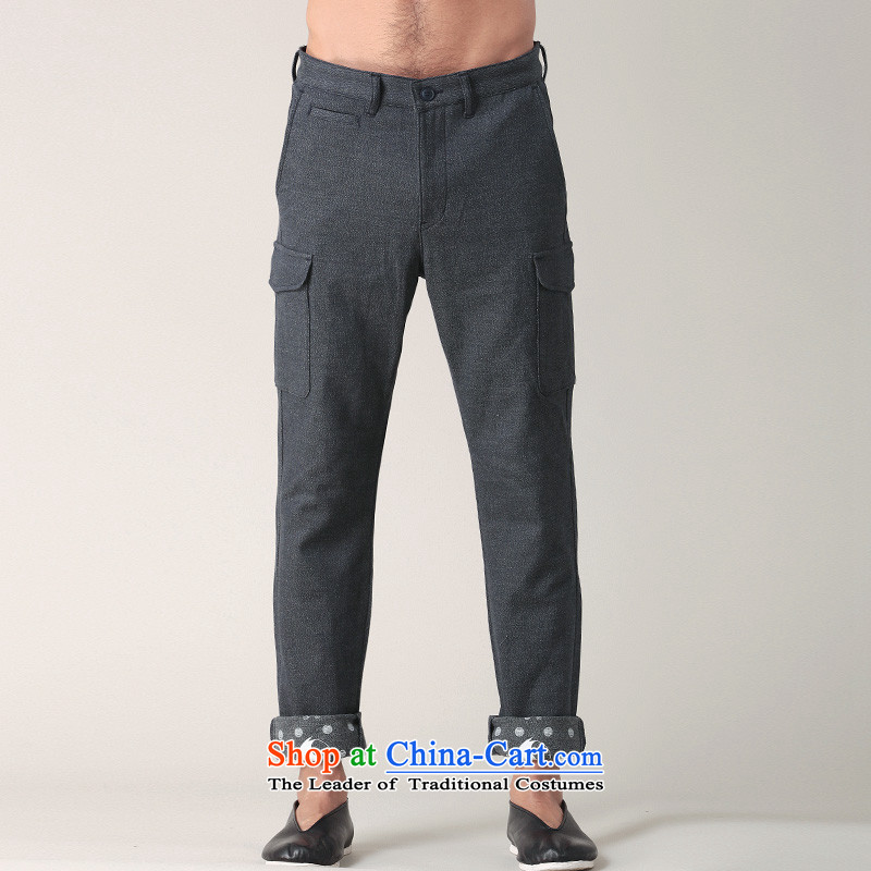Nt 2.7 no polarity Road, Tang China wind stamp trousers male and personality building foot trousers Tang pants rolled pattern more casual pants pocket spring 002013 replace carbon聽S