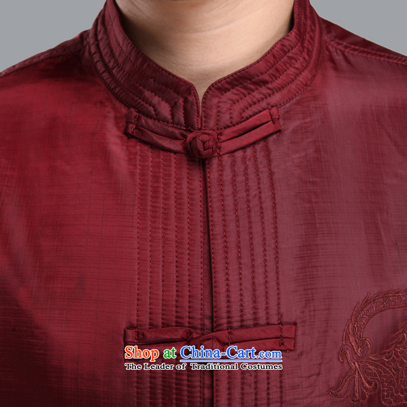 The Cave of the elderly聽by 2015 autumn and winter new upmarket older men Tang jackets solid color embroidery Tai Lung Men and Tang dynasty聽M206聽black plus 180 yards, Adam and Eve cotton elderly聽shopping on the Internet has been pressed.