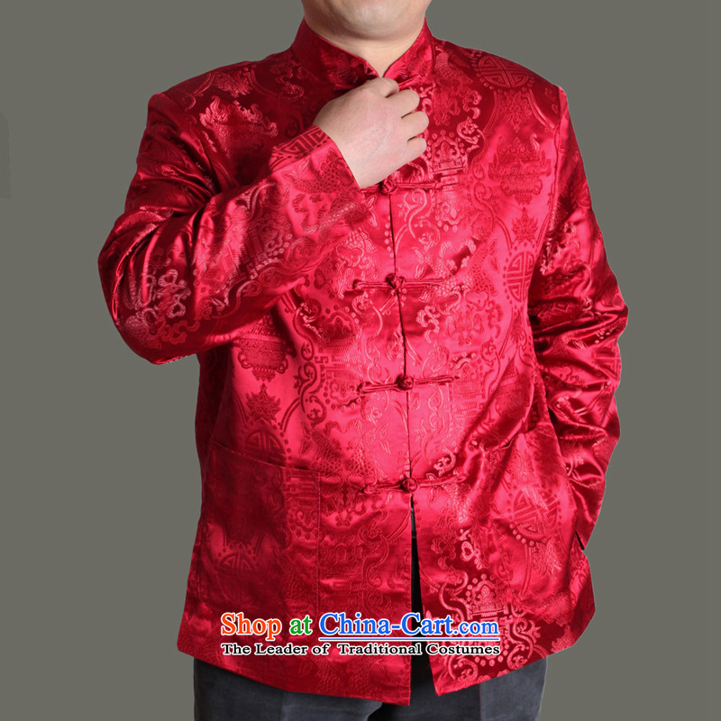 The Cave of the elderly聽by 2015 autumn and winter new men in the autumn of Tang jacket over older men's life of older persons birthday wearing red聽190, Y713 Cave of the elderly聽has been pressed shopping on the Internet